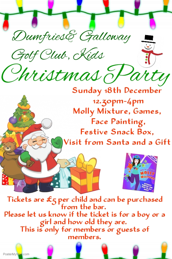 Kids Christmas Party - Dumfries and Galloway Golf Course
